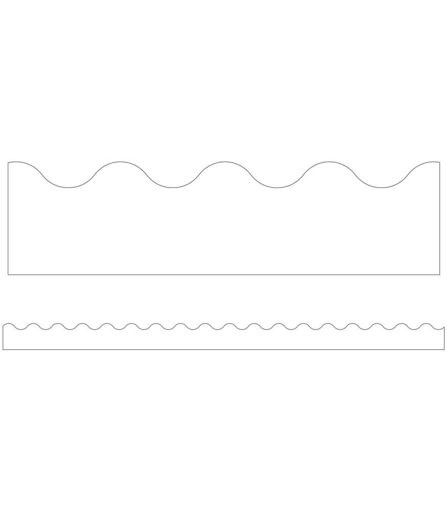 White Scalloped Borders Product Image