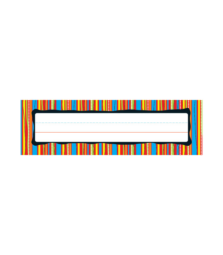 Colorful Stripes Nameplates Product Image