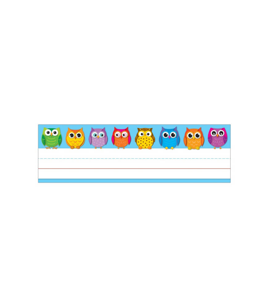 Colorful Owls Nameplates Product Image