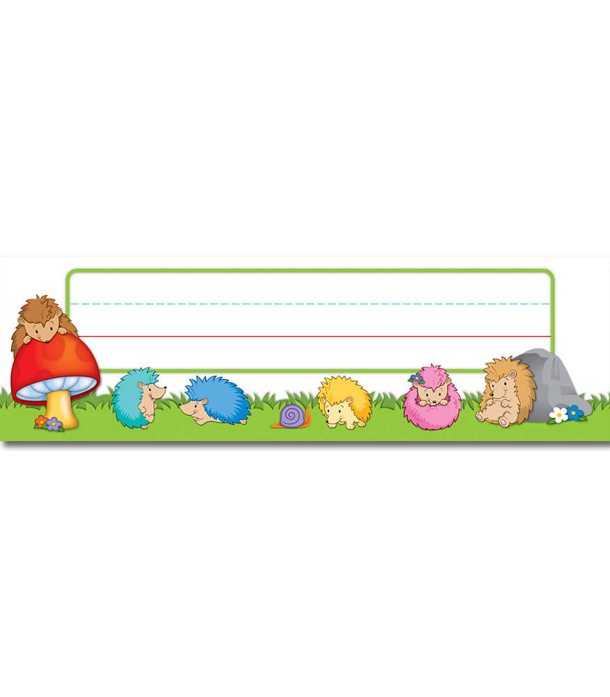 Happy Hedgehogs Nameplates Product Image