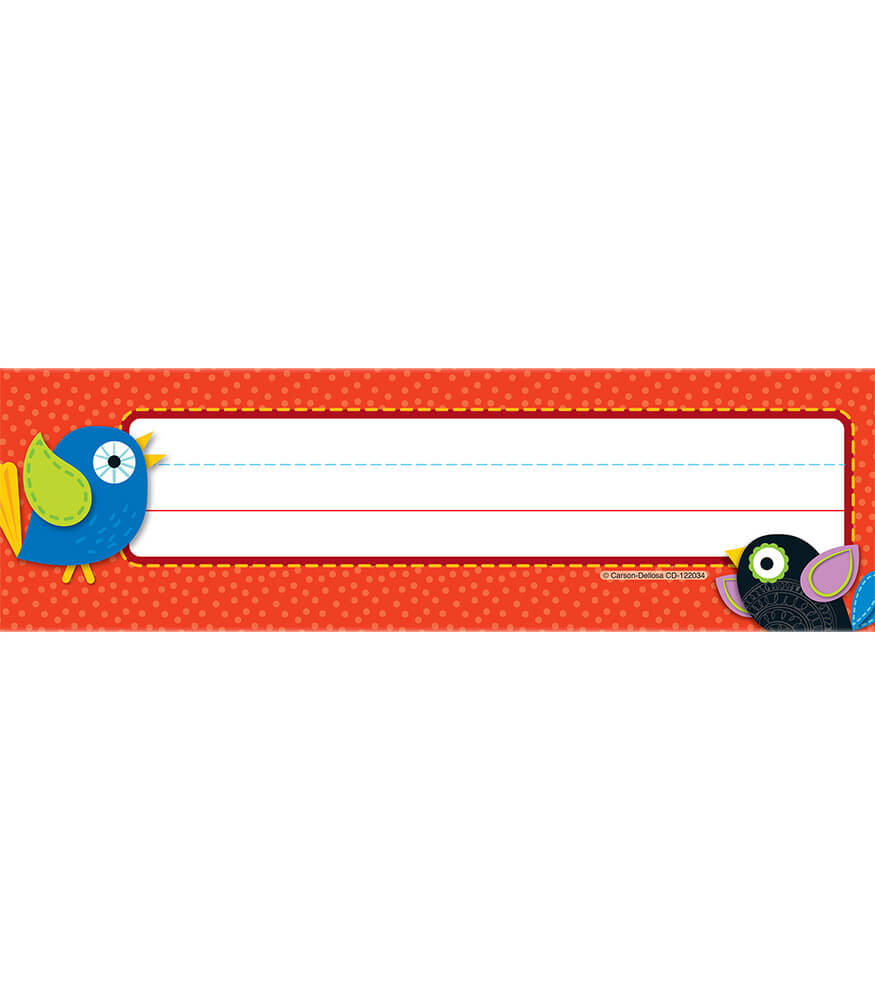 Boho Birds Nameplates Product Image