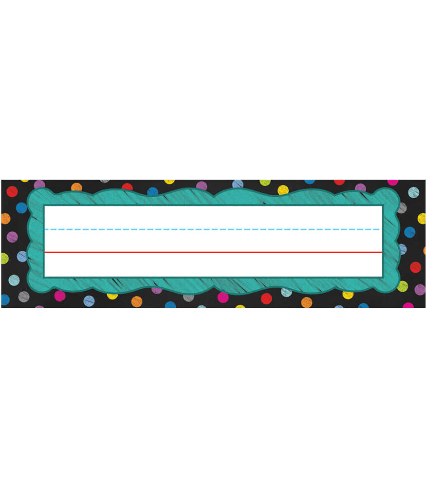 Colorful Chalkboard Nameplates Product Image