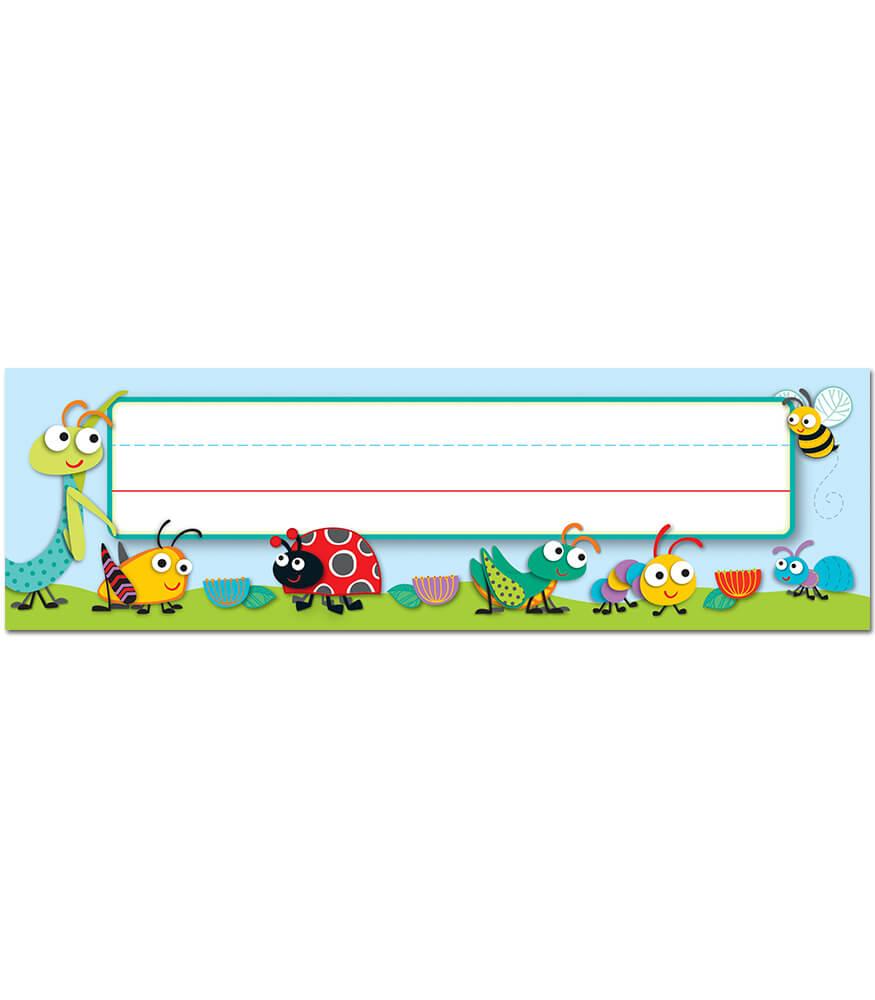 Classroom Decoration Prek ~ Buggy for bugs nameplates grade pk