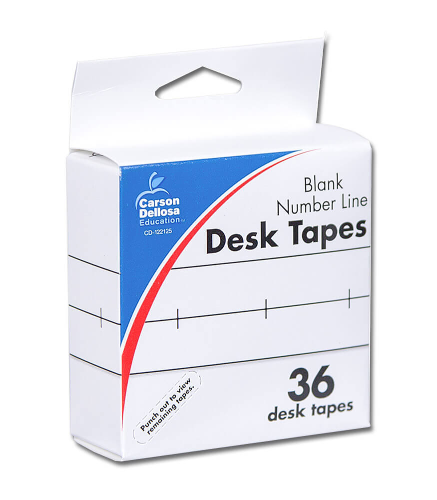 Blank Number Line Desk Tape Product Image