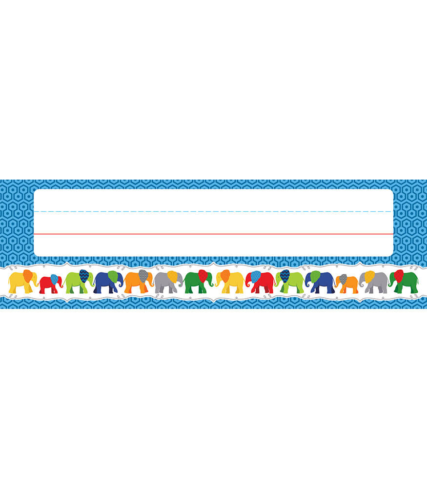Parade of Elephants Nameplates Product Image