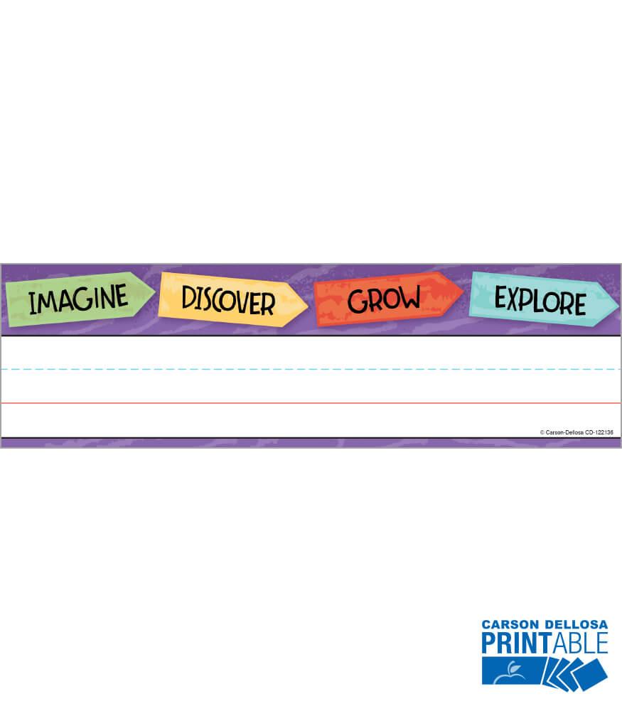 Nature Explorers Printable Nameplates Product Image