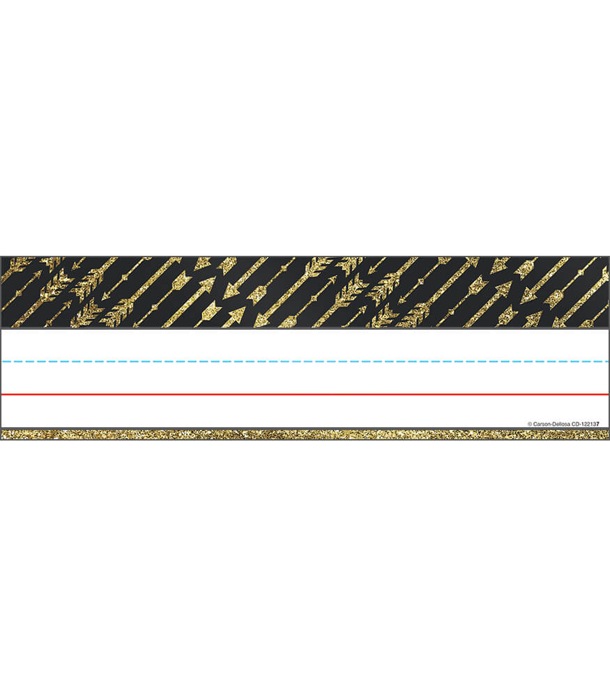 Gold Glitter Arrows Nameplates Product Image