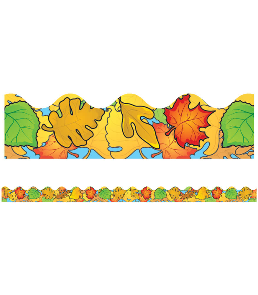 Colored Leaves Scalloped Borders Product Image
