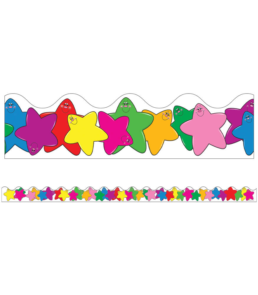 Colorful Stars Scalloped Borders Product Image