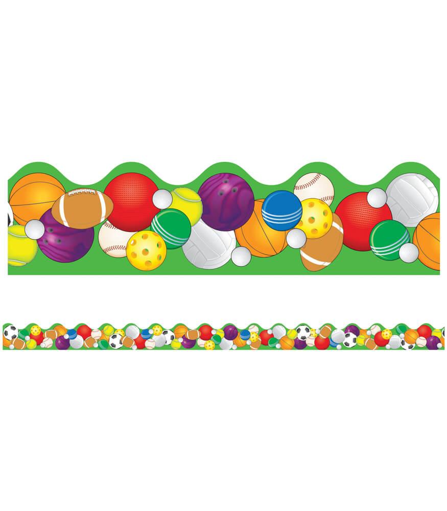 Sports Balls Scalloped Borders Product Image
