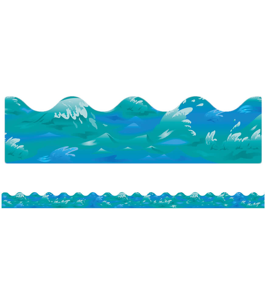 Ocean Waves Scalloped Borders Product Image