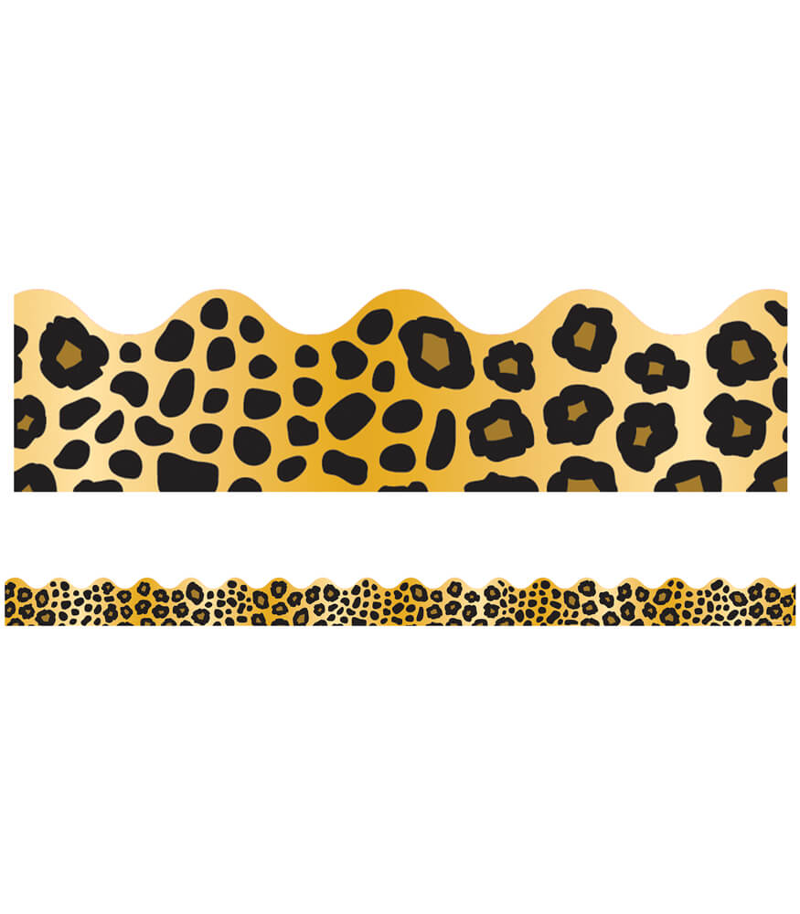 Leopard Print Scalloped Borders Product Image