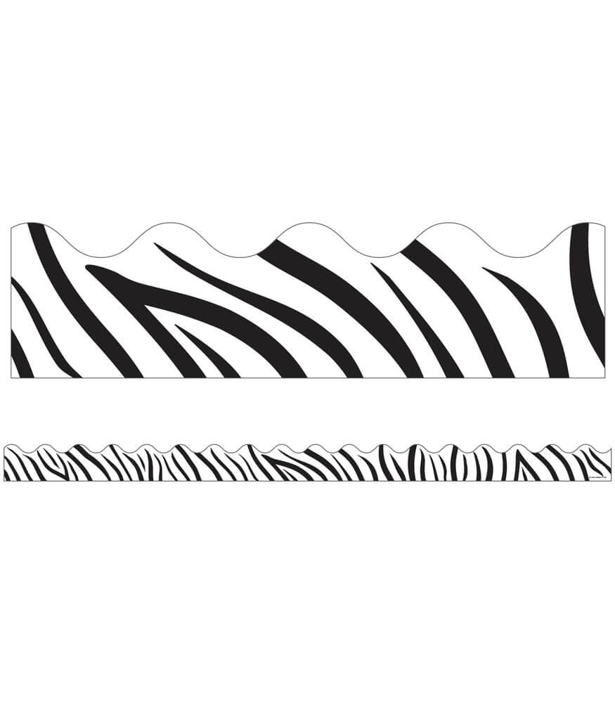 Zebra Print Scalloped Borders Product Image