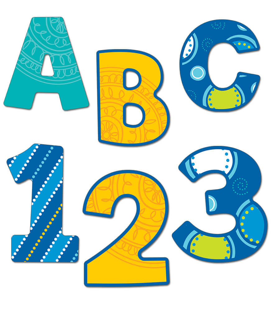 Bubbly Blues EZ Letters Product Image