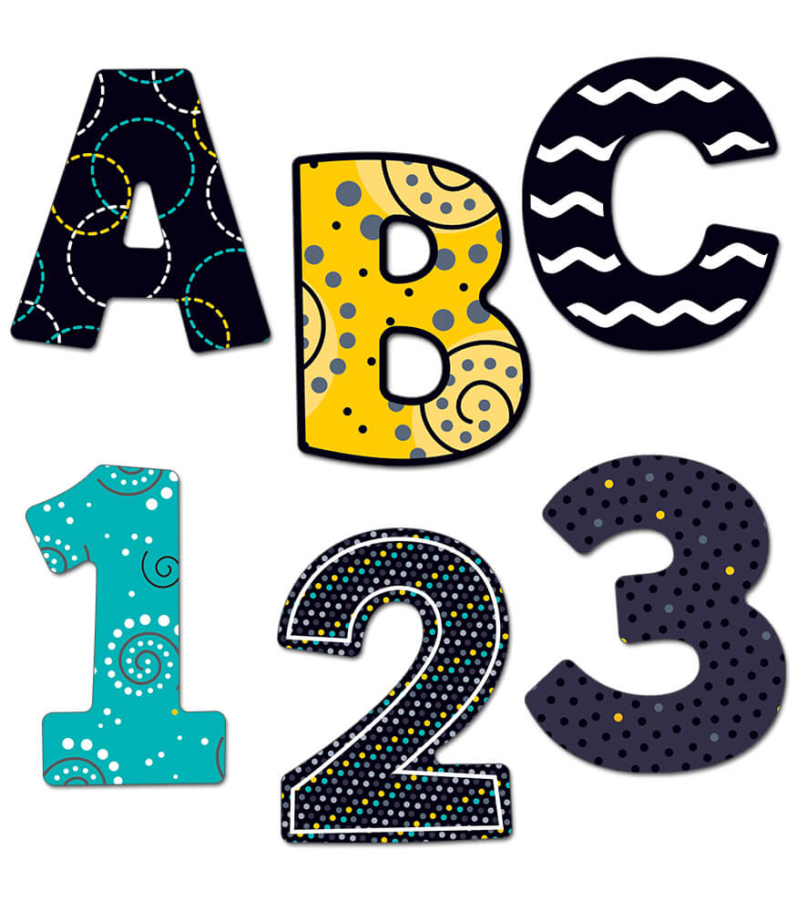 3 inch Black, White & Bold   EZ Letters Product Image