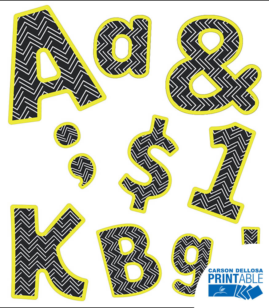 Letters, Numbers, and Symbols Printable Letters Product Image