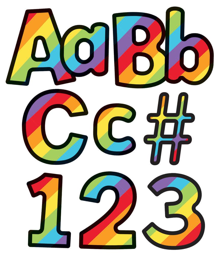 Rainbow Stripe Combo Pack EZ Letters Product Image