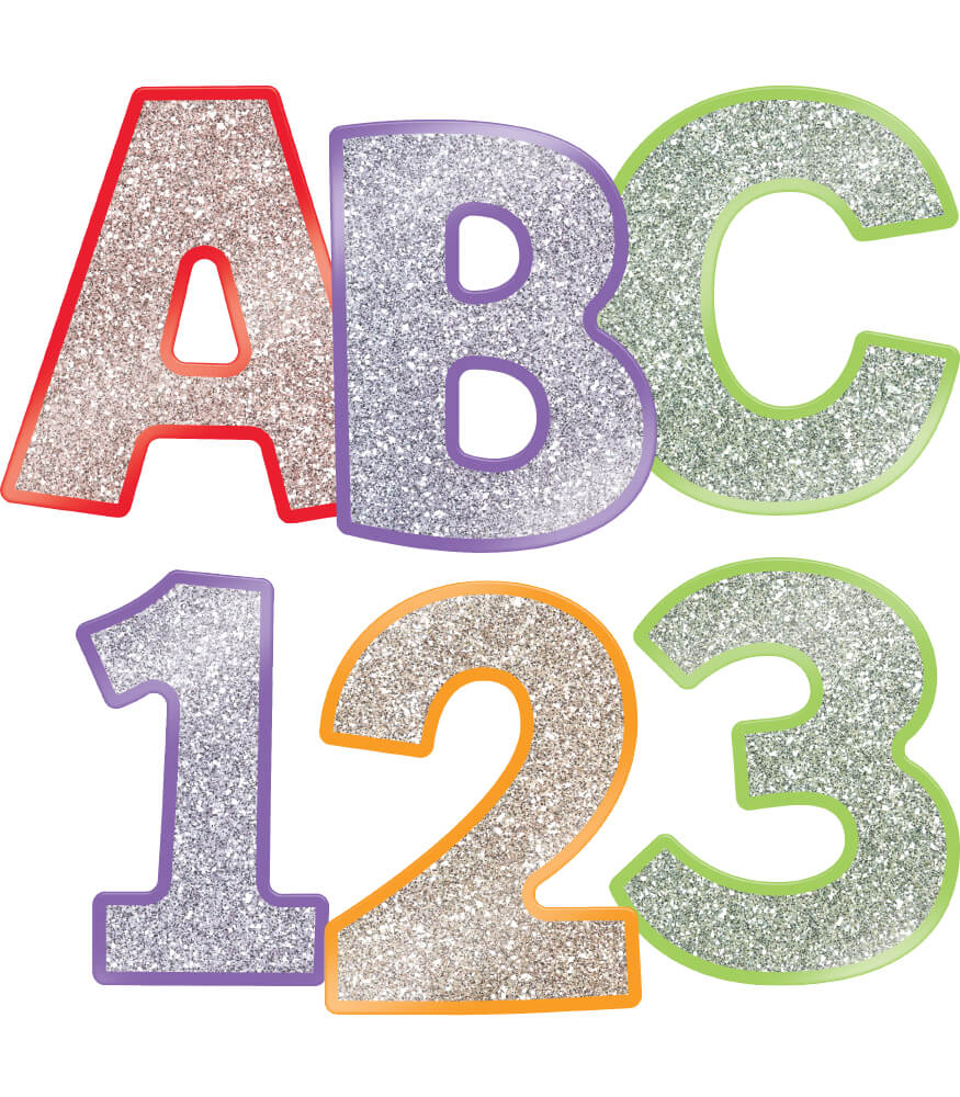 Colorful Glitter Combo Pack EZ Letters Product Image