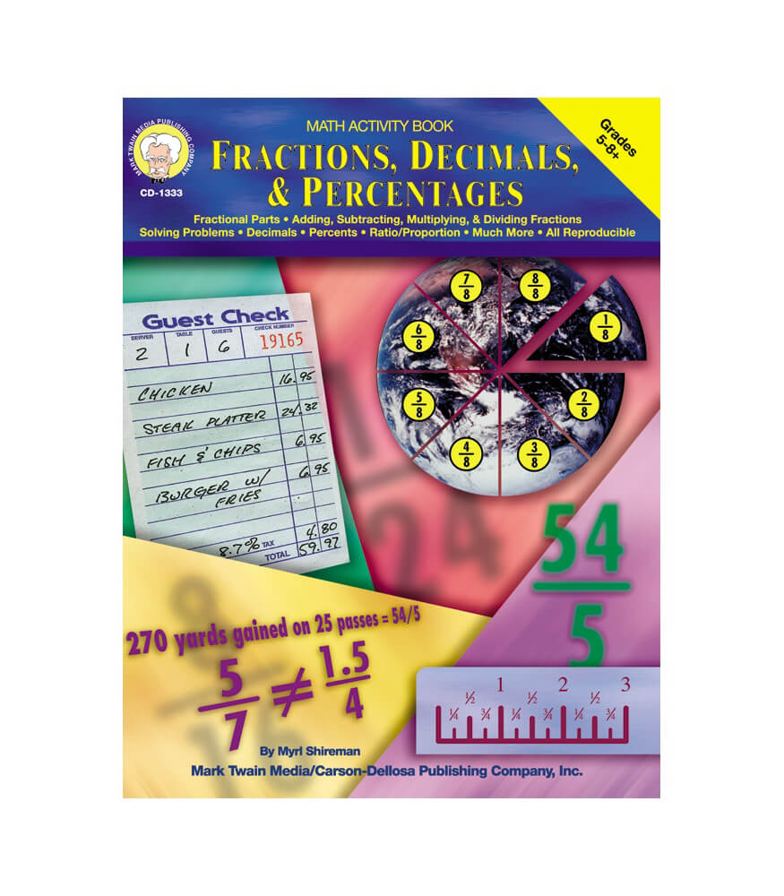 Fractions, Decimals, & Percentages Resource Book Product Image
