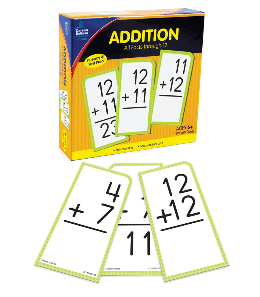 Addition All Facts through 12 Flash Cards Product Image