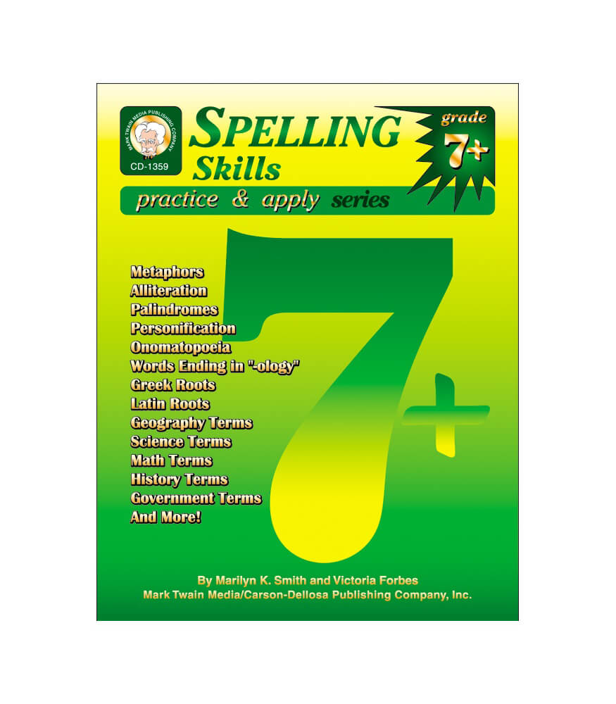 Spelling Skills Resource Book Grade 7-8 | Carson-Dellosa Publishing