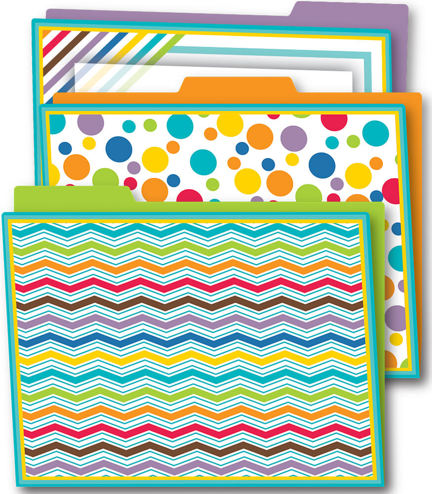 Color Me Bright File Folders Product Image