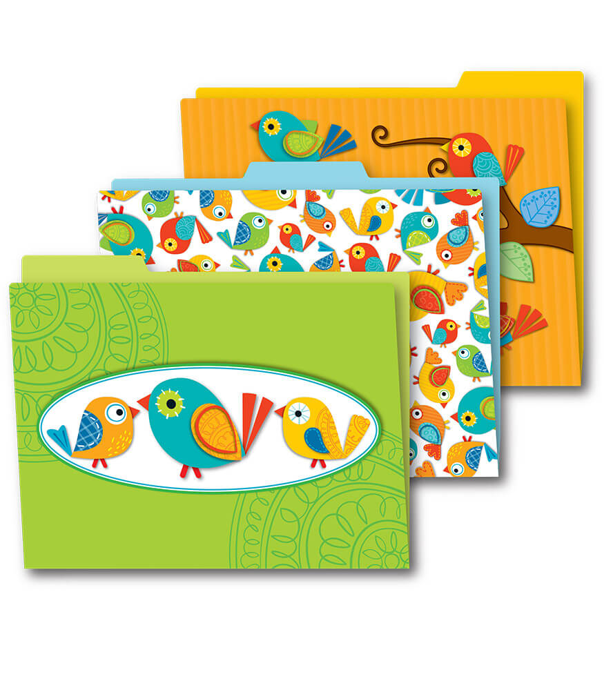 Boho Birds File Folders Product Image