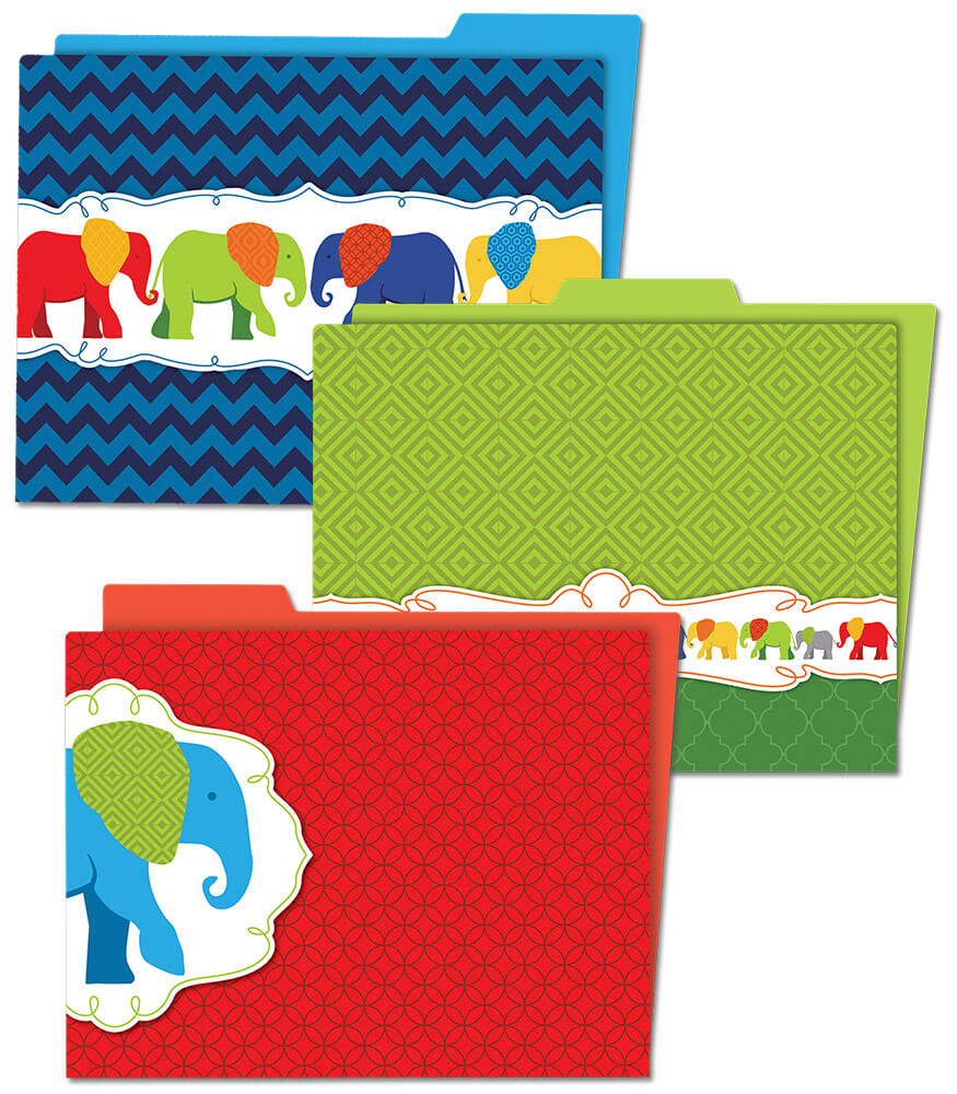 Parade of Elephants File Folders Product Image