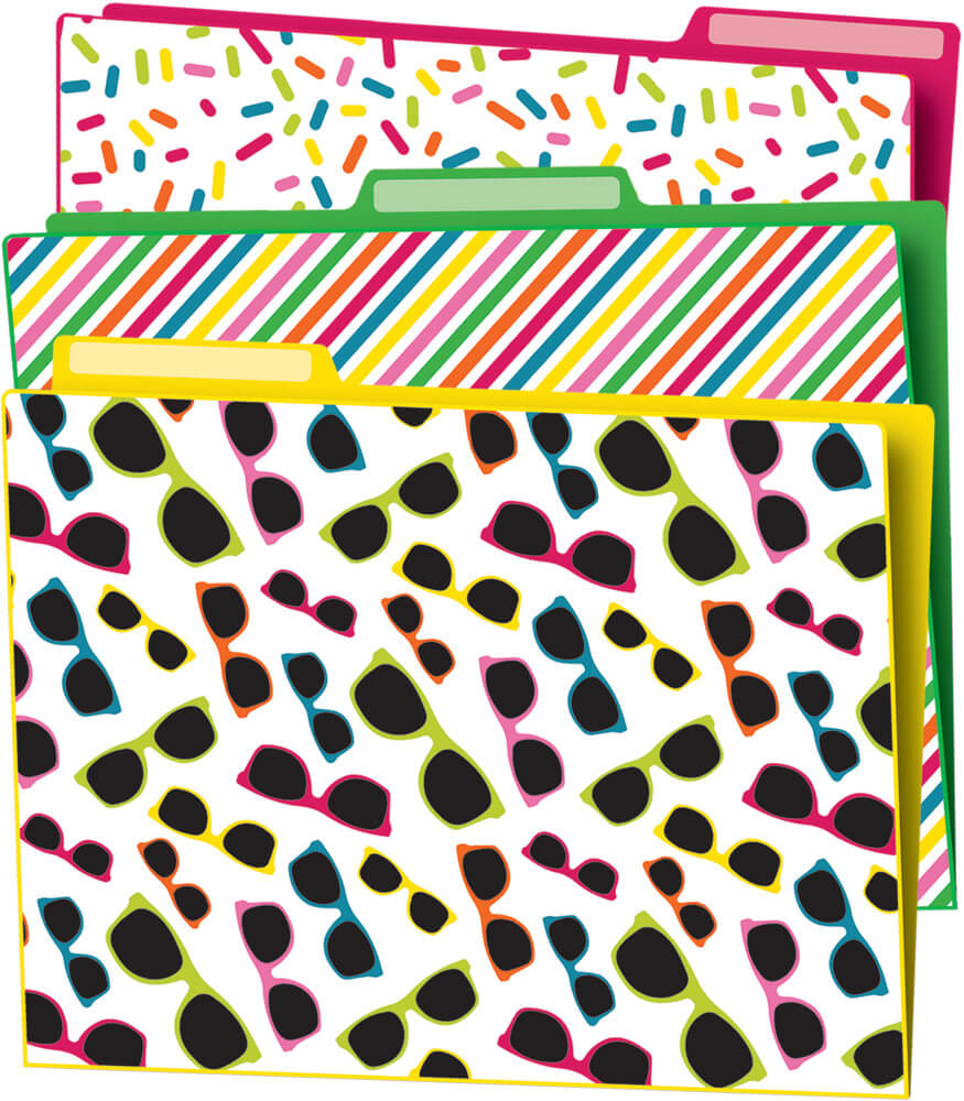 School Pop File Folders Product Image