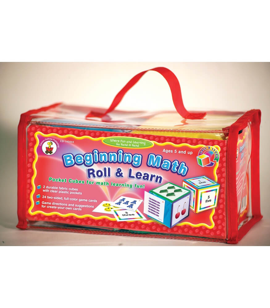 Beginning Math Roll & Learn Pocket Cubes Manipulative Product Image