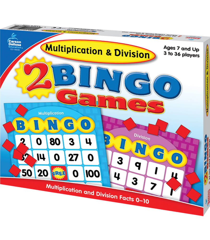 Multiplication & Division Bingo Board Game