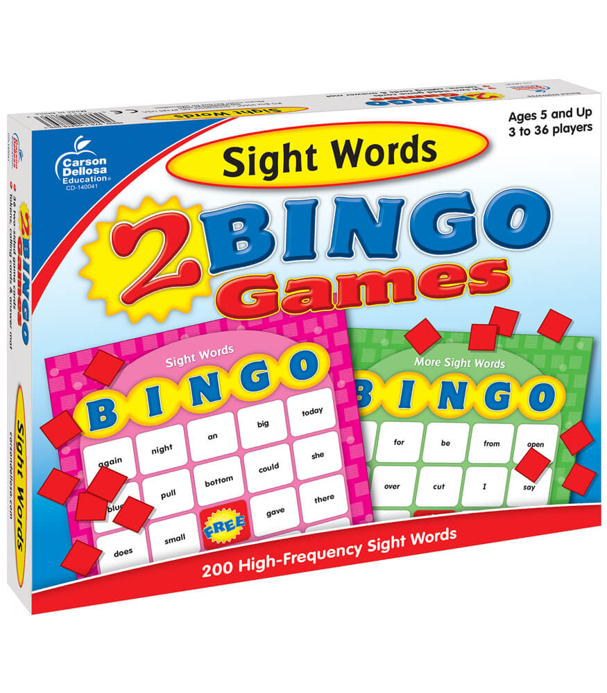 Sight Words Bingo Board Game
