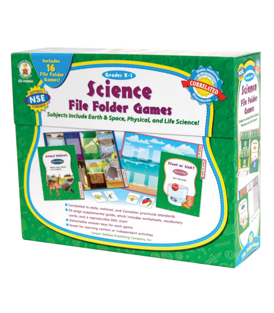Science File Folder Games File Folder Game Grade K 1