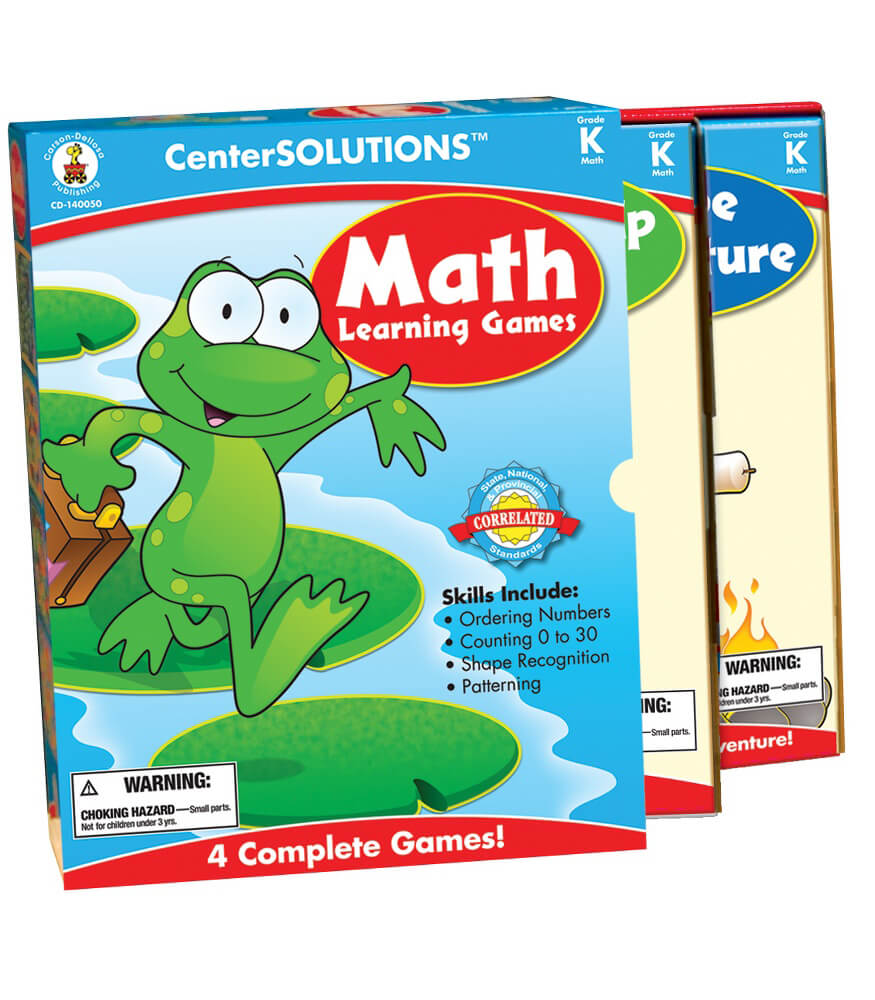 Math Learning Games Board Game Grade K