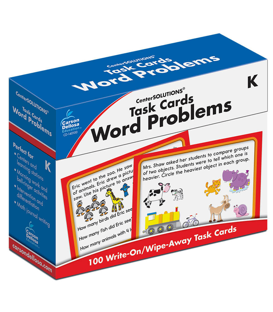 Task Cards: Word Problems Learning Cards