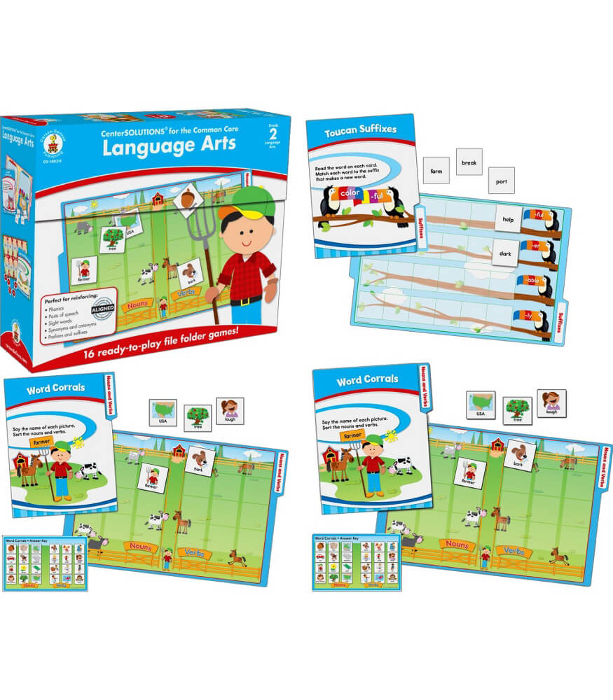 Language Arts File Folder Game Product Image