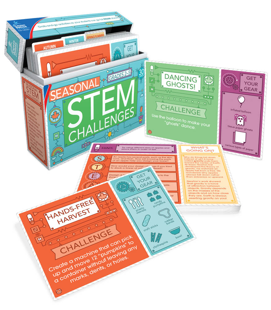 Seasonal STEM Challenges Learning Cards Product Image