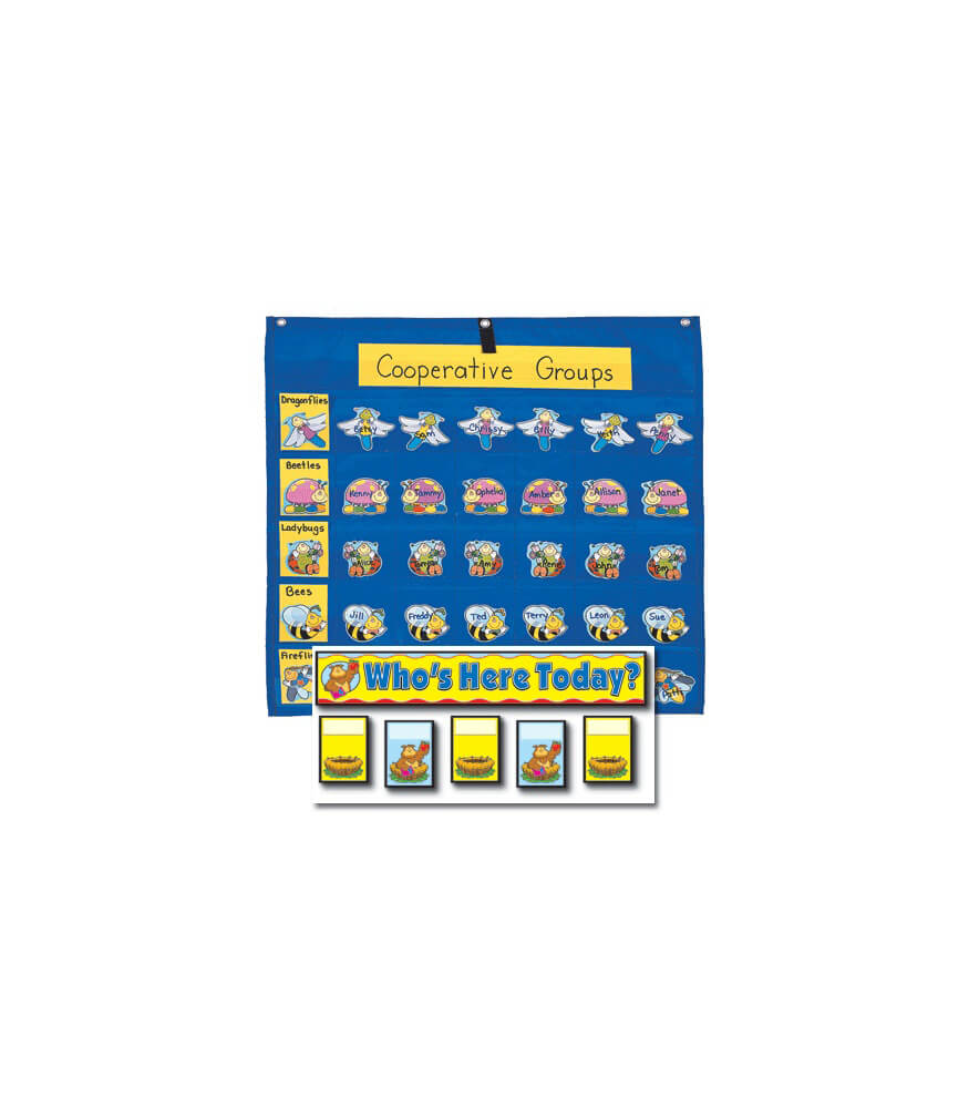 Attendance/Multiuse Replacement Cards and Pocket Chart Product Image