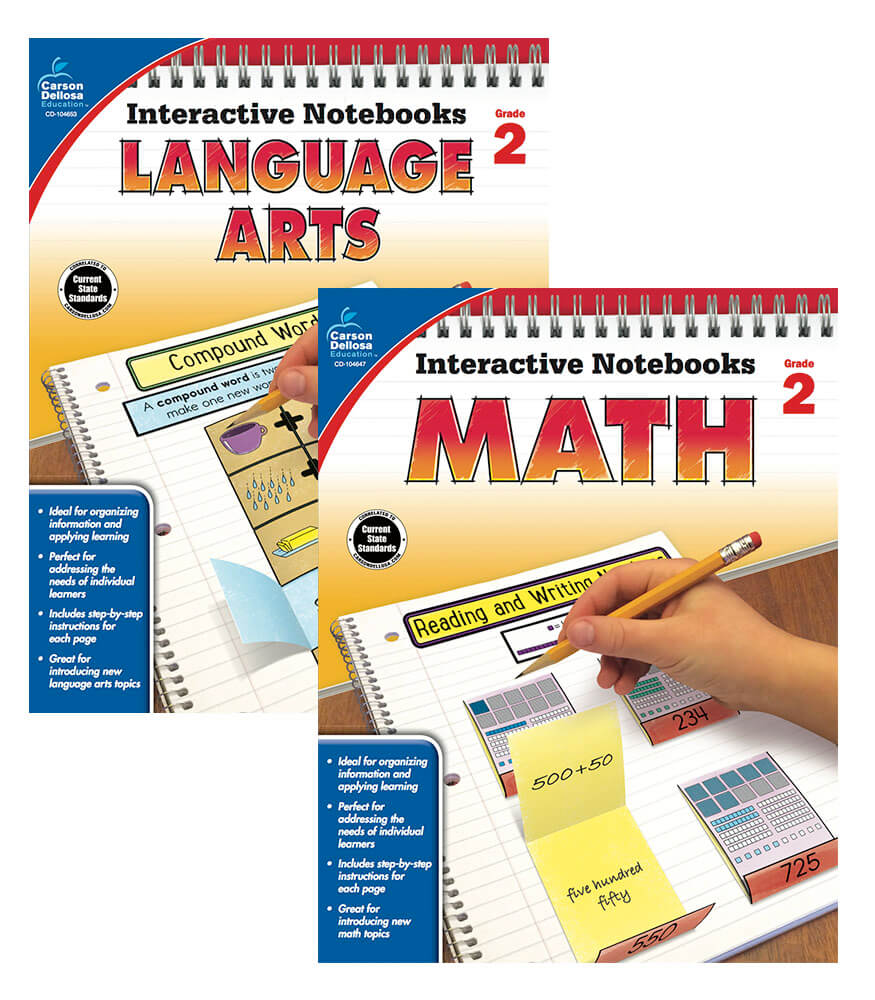 Interactive Notebook Language Arts & Math Resource Book Bundle Product Image