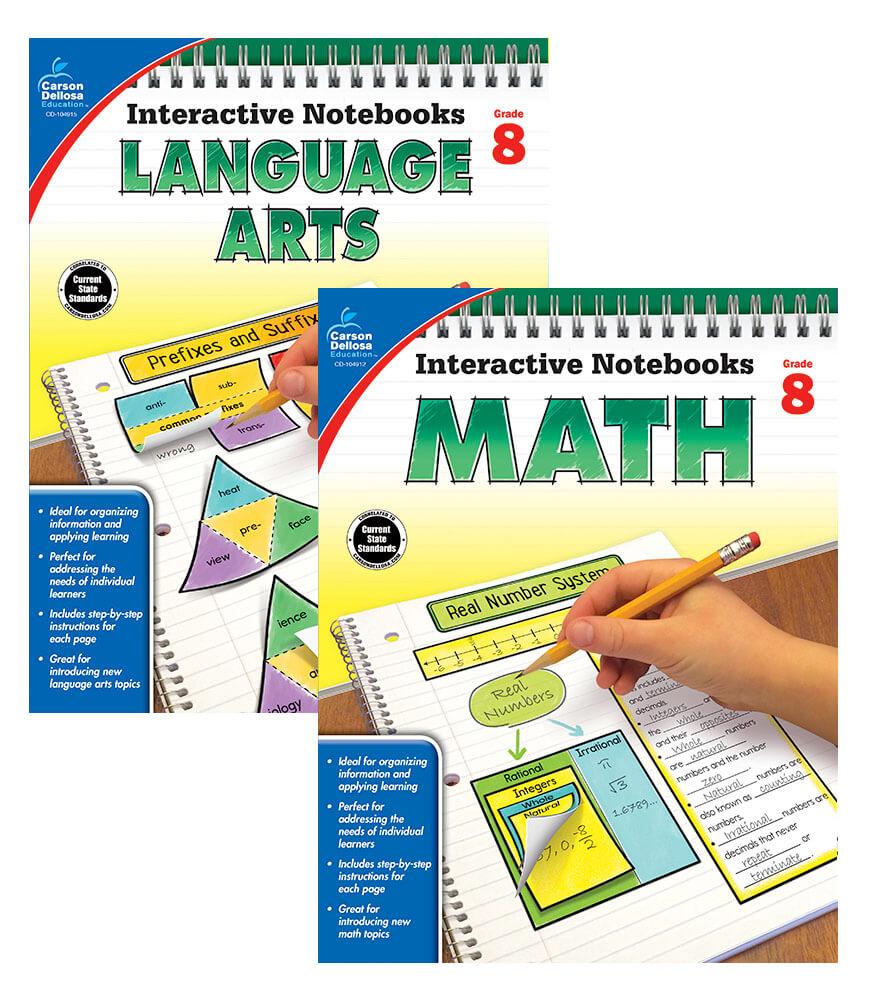 Interactive Notebook Language Arts & Math Resource Book Bundle Product Image