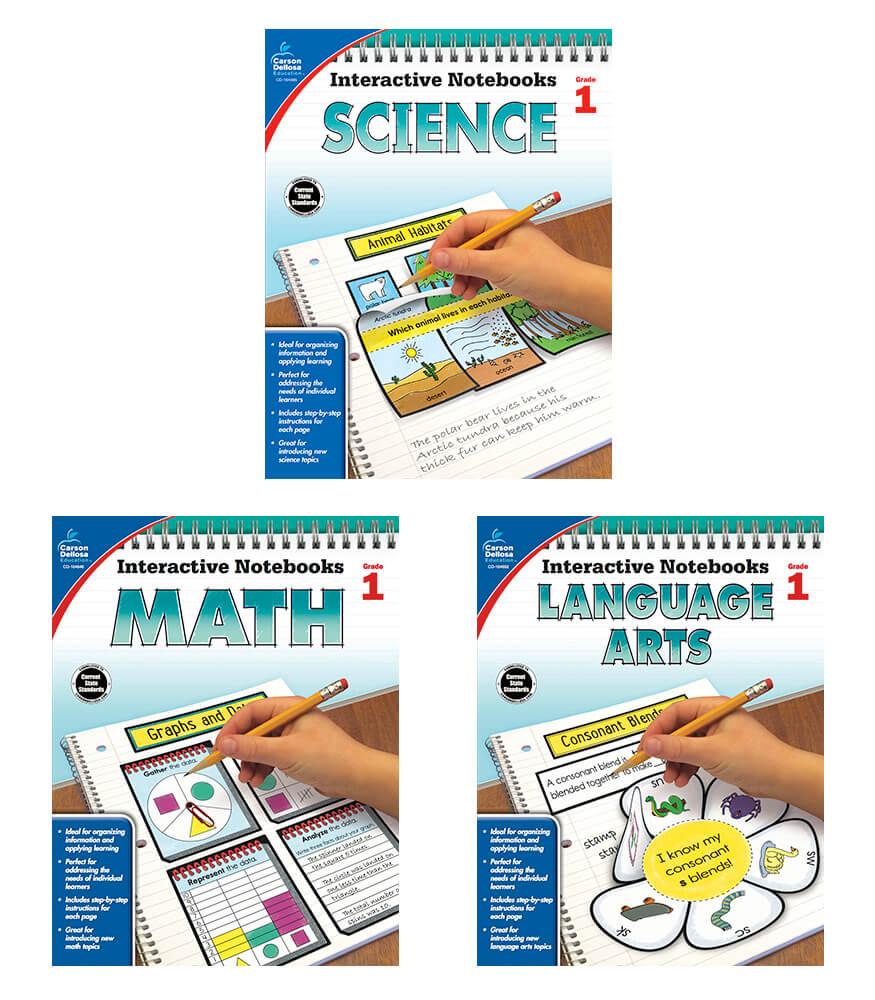 Interactive Notebook Language Arts, Math & Science Resource Book Bundle Product Image