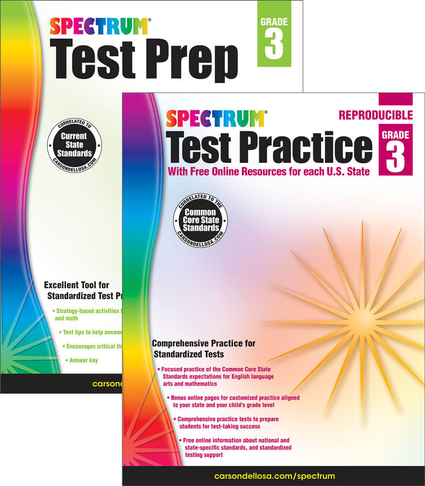 Workbooks practice workbook : Spectrum Test Prep and Practice Workbook Bundle Grade 3 | Carson ...