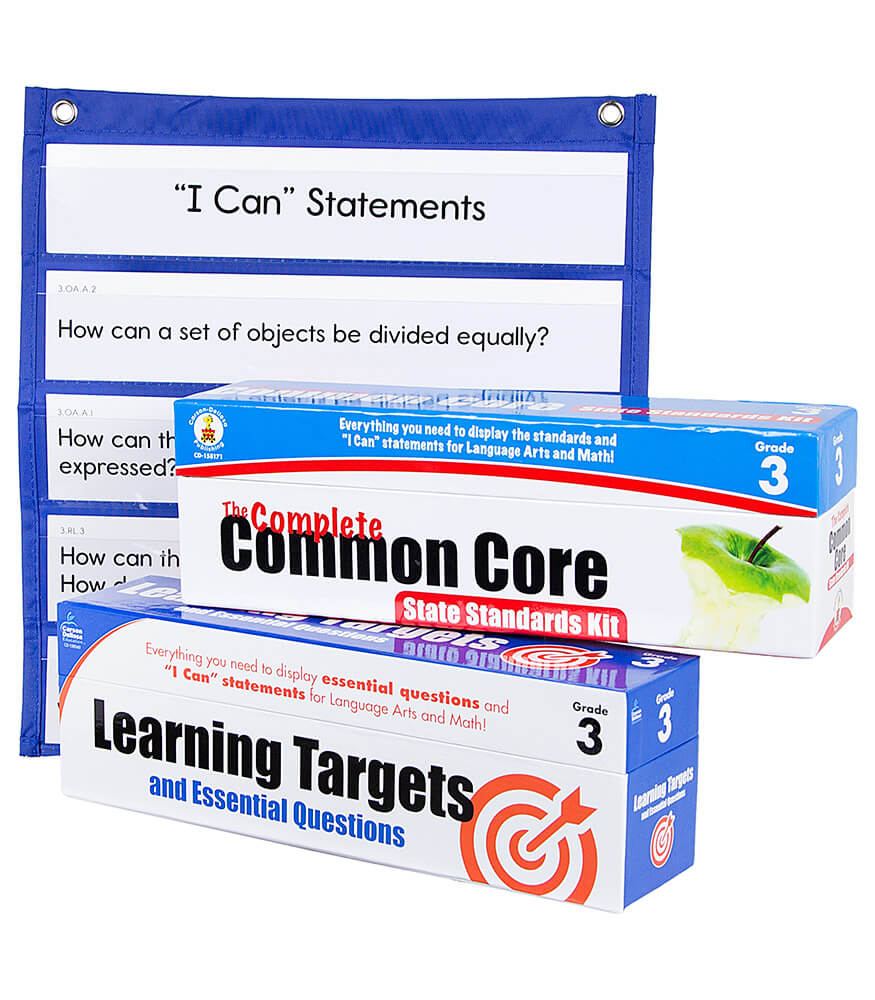Learning Targets and State Standards Cards with Pocket Chart Classroom Set
