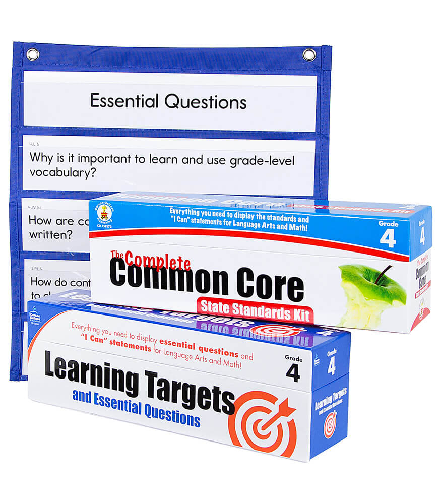 Learning Targets and State Standards Cards with Pocket Chart Classroom Set Product Image