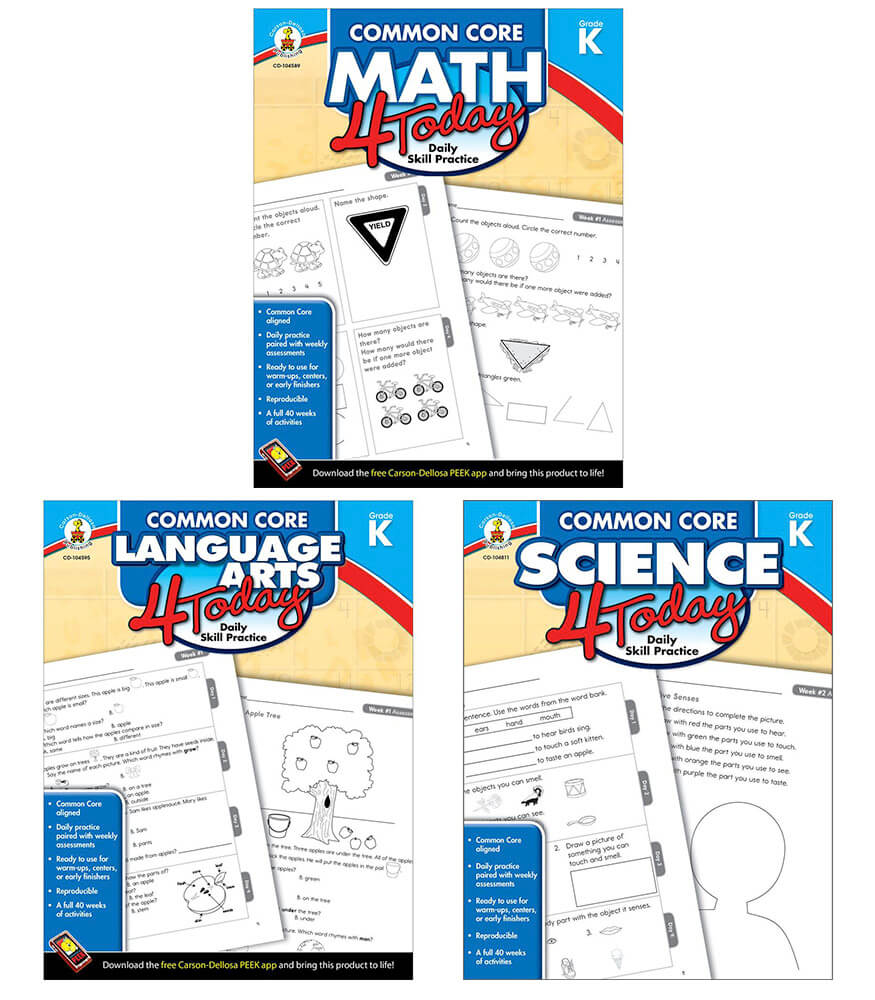 Common Core 4 Today Grade K Workbook Bundle Product Image