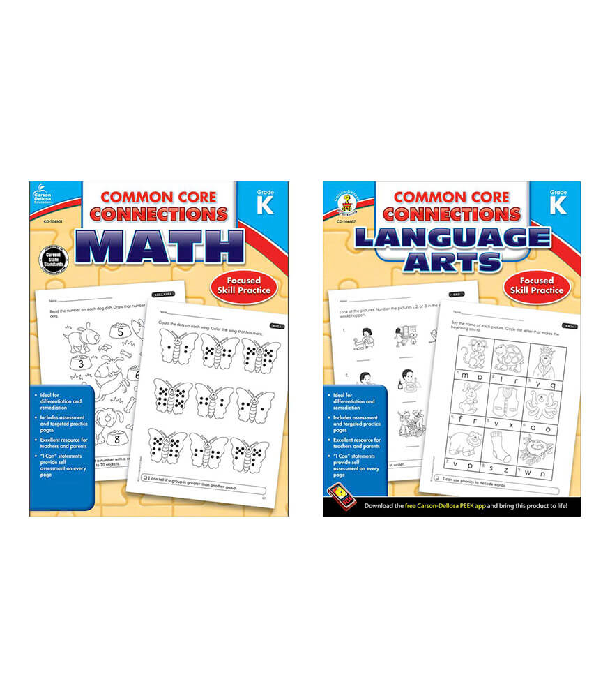 Common Core Connections Grade K Workbook Bundle Product Image