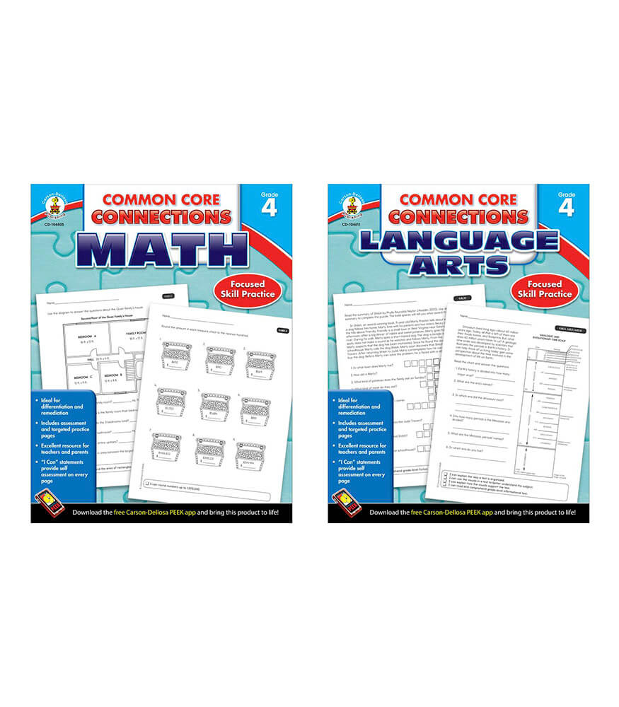 Common Core Connections Grade 4 Workbook Bundle Product Image