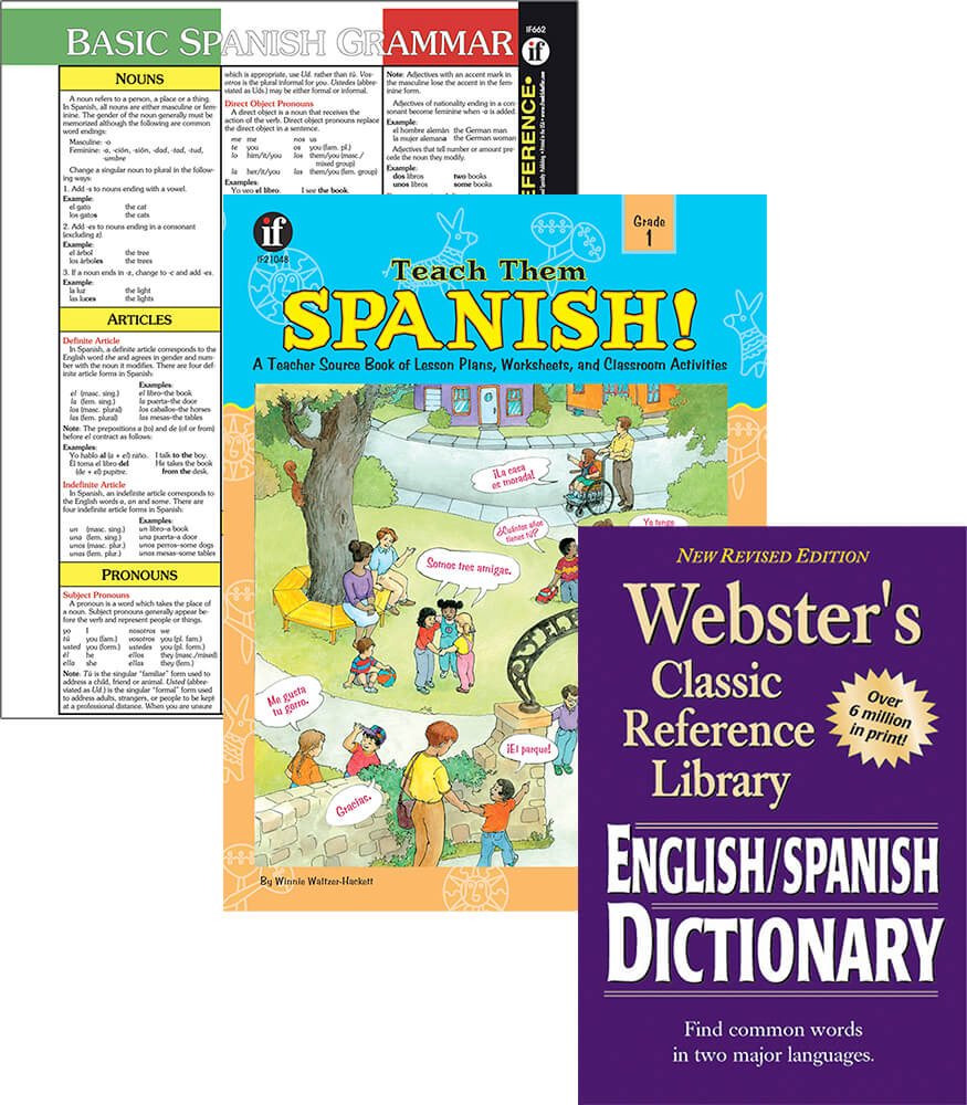 Learning Spanish Grade 1 Workbook Bundle Product Image