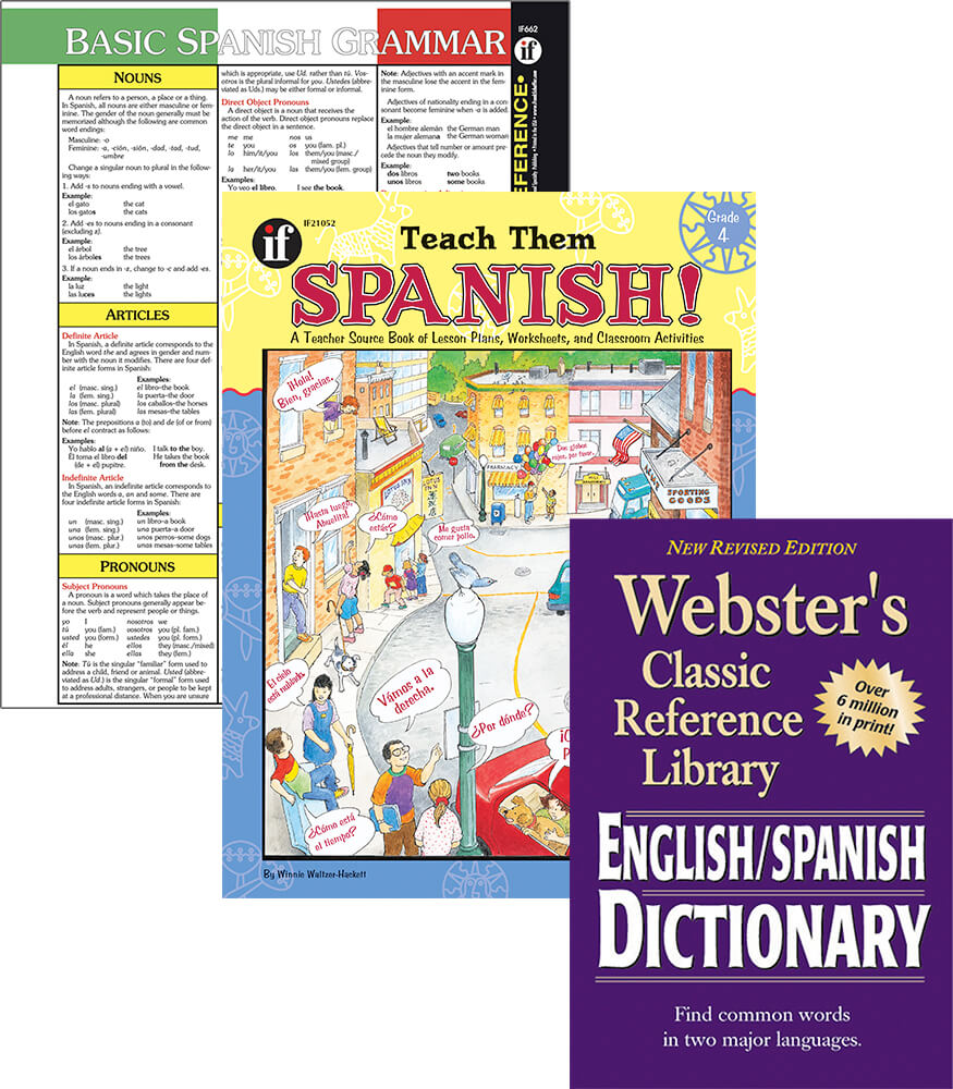 Learning Spanish Grade 4 Workbook Bundle Product Image