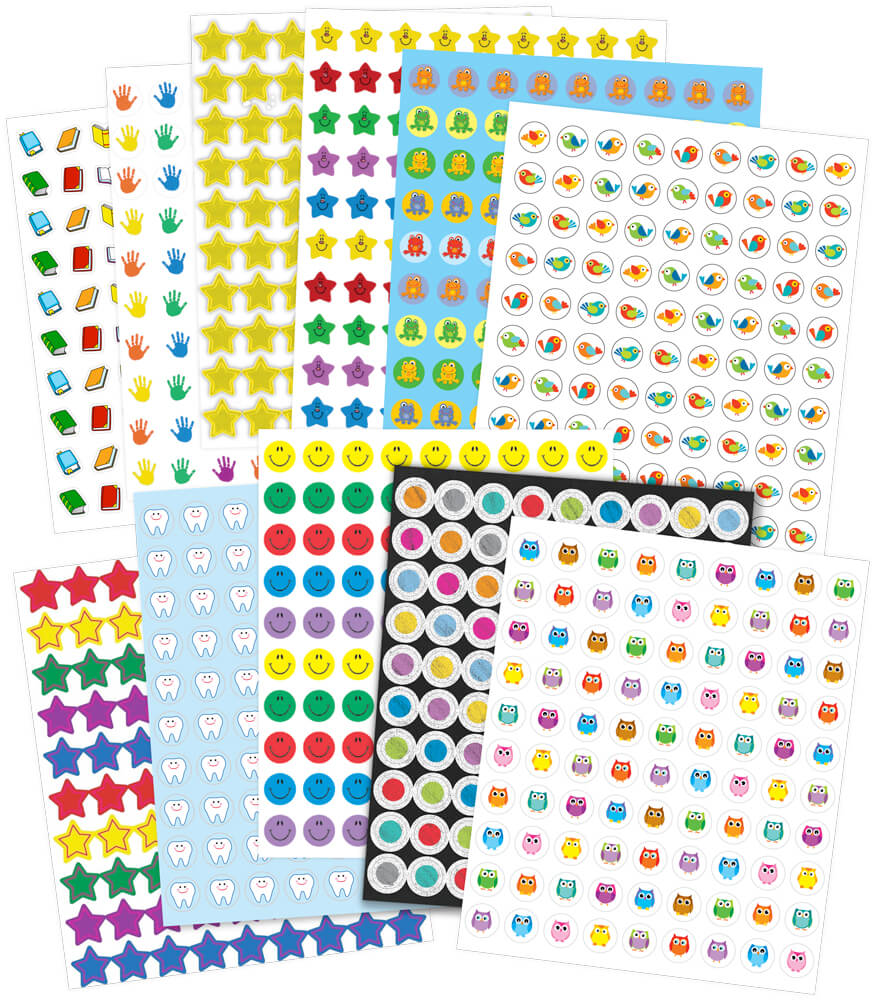 Colossal Chart Seal Sticker Collection